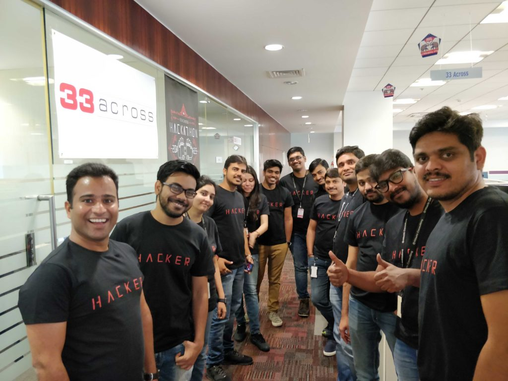 33Across Hackathon Participants from the India team