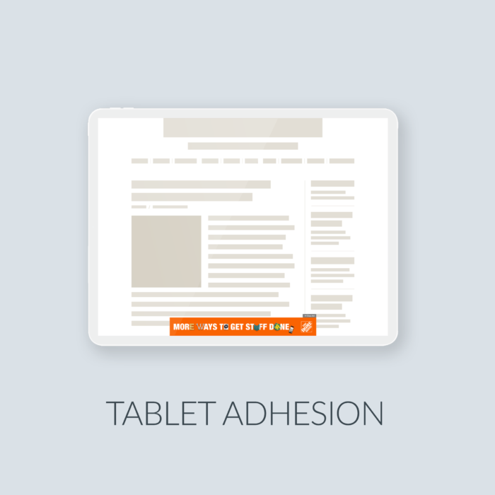 Cover Tablet Adhesion